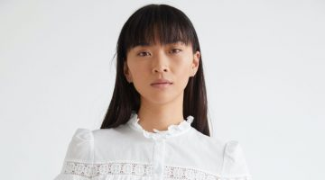 & Other Stories Button Up Ruffle Embroidery Blouse $99