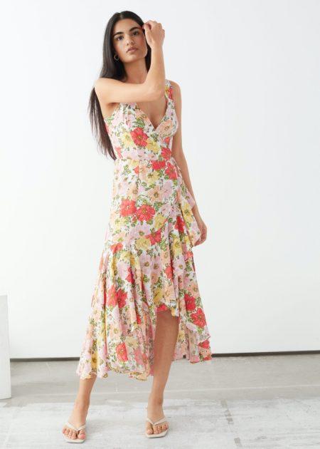 & Other Stories Sleeveless Midi Wrap Dress $119