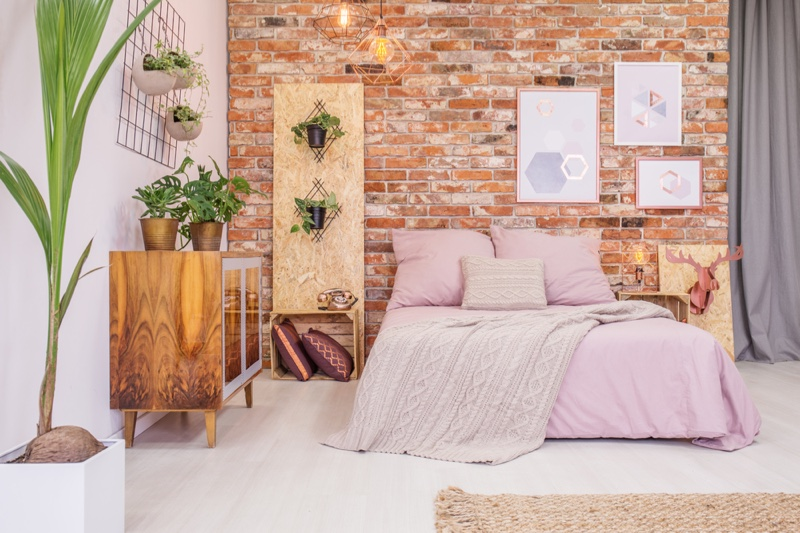 Pink Bedroom Decoration Plants