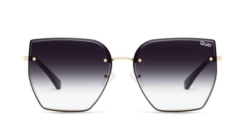 Quay x Lizzo Around the Way Sunglasses in Gold/Black Fade $65