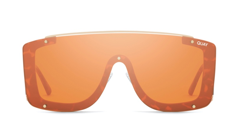 Quay x Lizzo Hold For Applause Sunglasses in Tortoise/Bronze $65