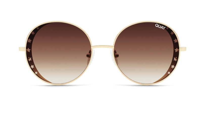 Quay x Lizzo Seeing Stars Sunglasses in Gold/Brown $125