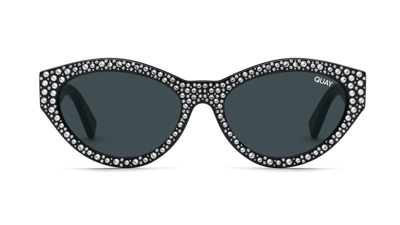 Quay x Lizzo Totally Buggin' Sunglasses in Black/Silver $125