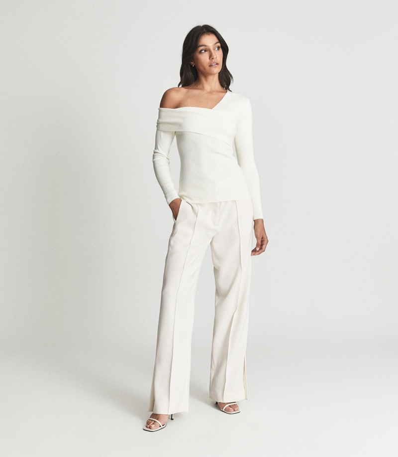 Reiss Eliah Knitted Asymmetric Top $245