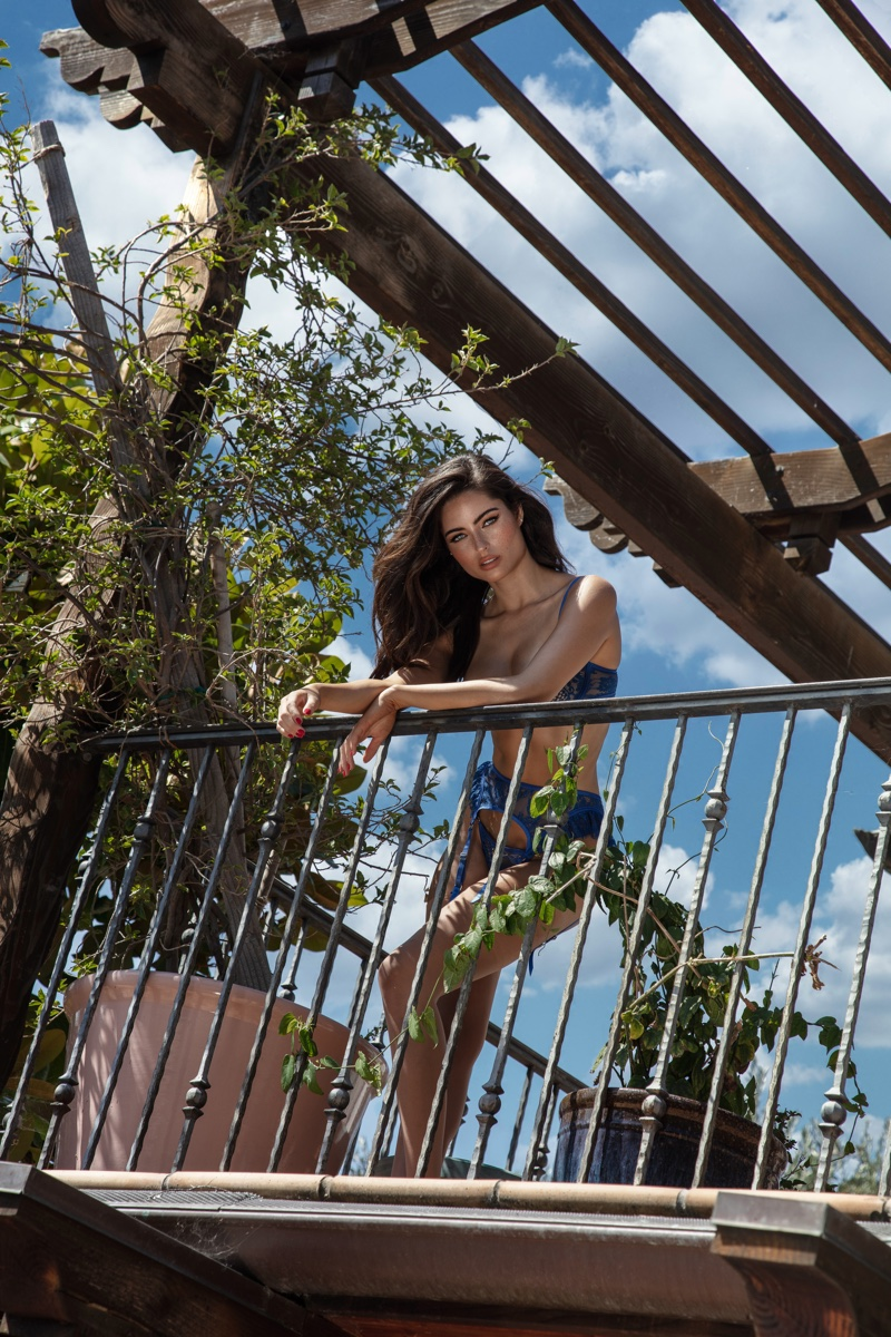 Renee Murden Heats Up Eats Lingerie 'Blue Cherry' Campaign