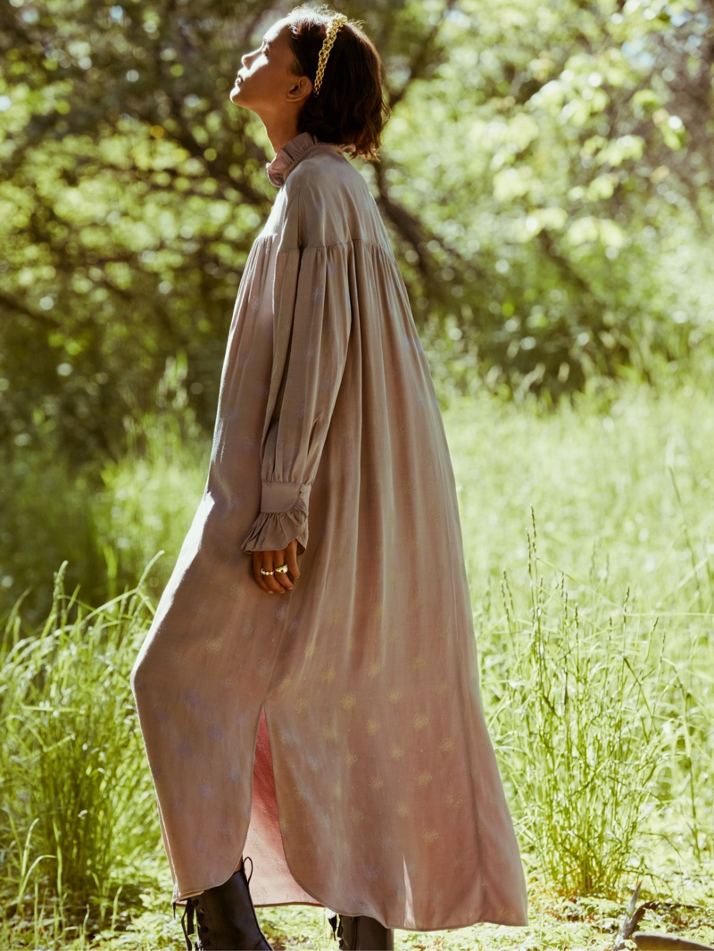 Malaika Holmén Models Outdoors in Sandra Mansour x H&M Collaboration