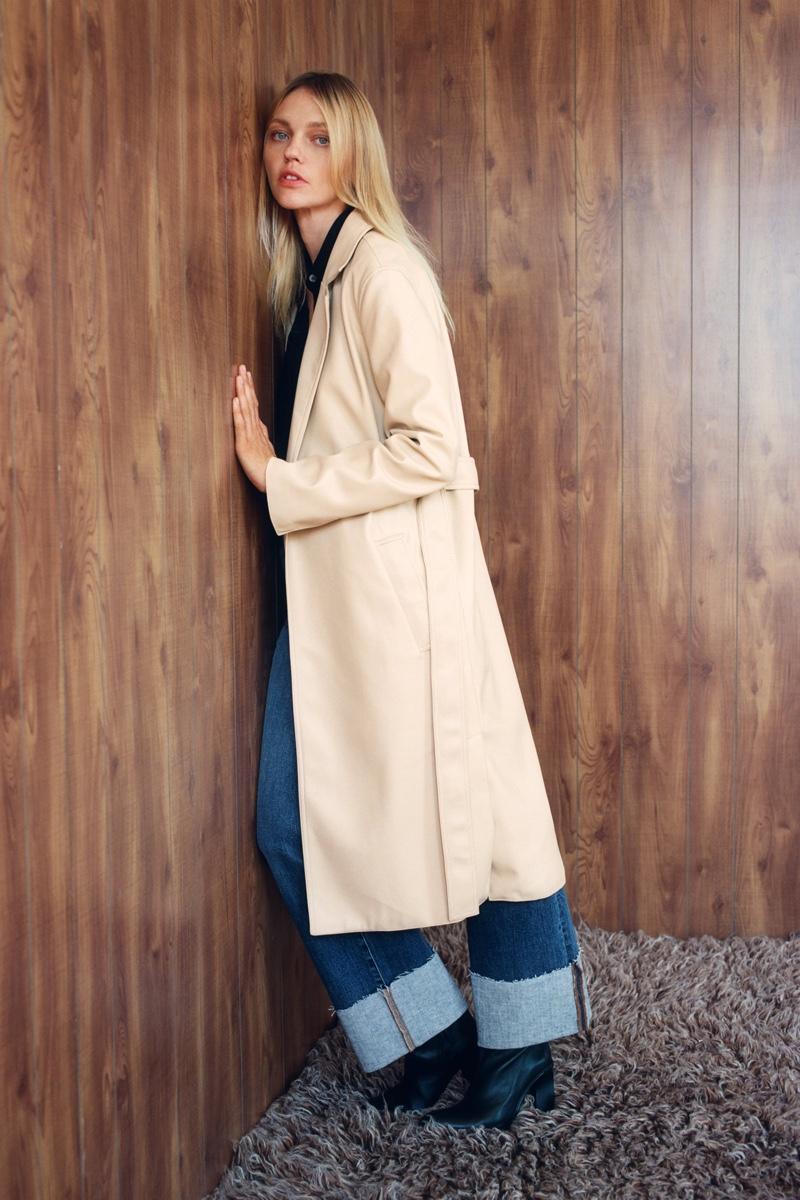 Sasha Pivovarova Poses in Zara's Eclectic Fall Styles