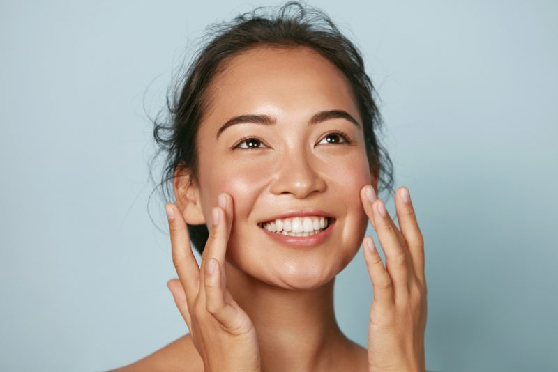Smiling Woman with Radiant Skin