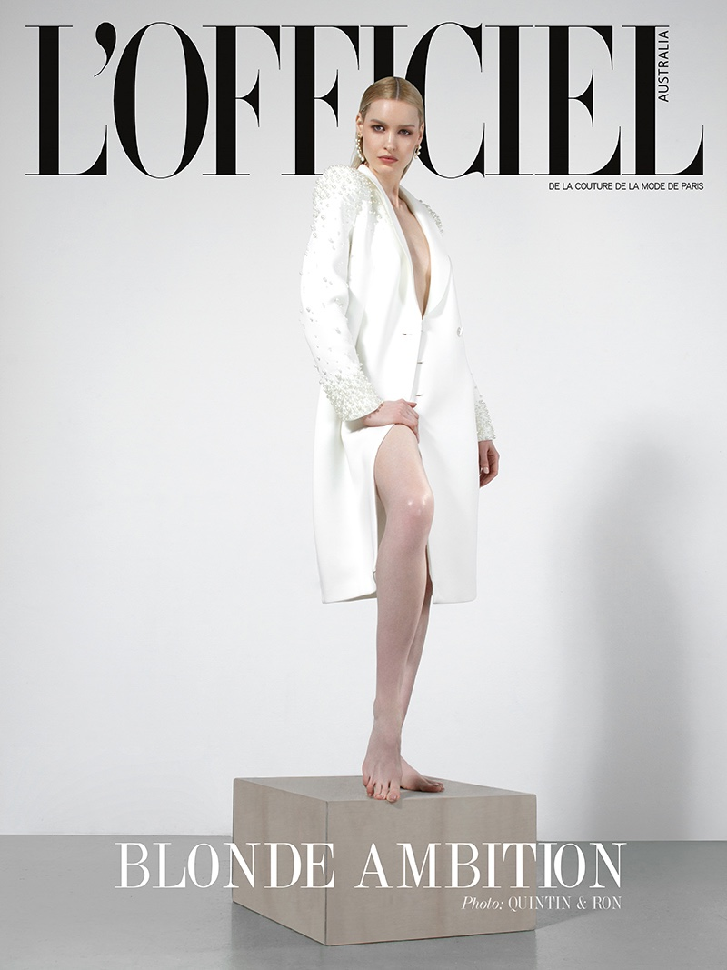 Snow Dollkinson Embraces Monochrome Style for L'Officiel Australia