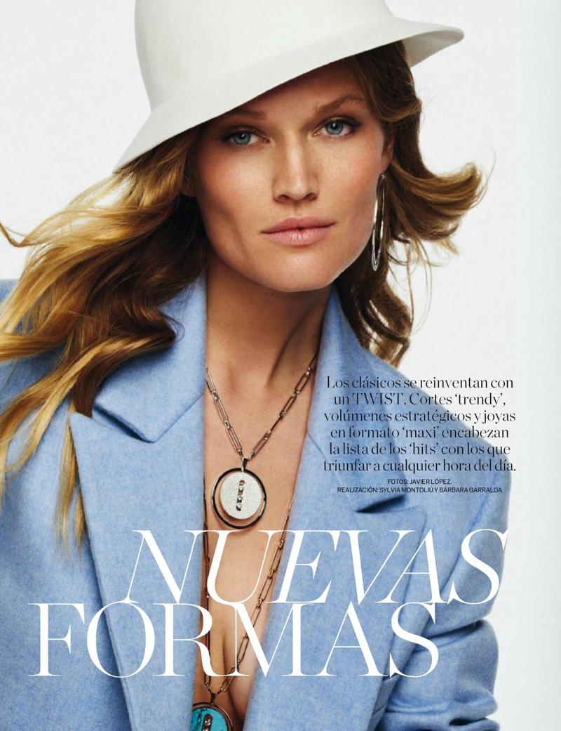 Toni Garrn Embraces New Season Fashion for ELLE Spain