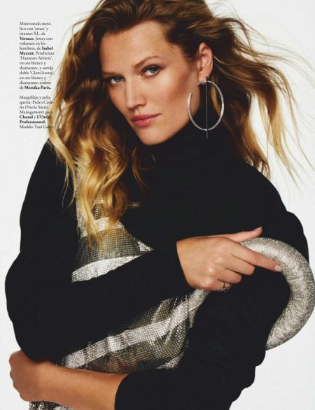 Toni Garrn Embraces New Season Fashion for ELLE Spain