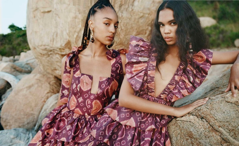 Prints stand out in Ulla Johnson fall-winter 2020 campaign.