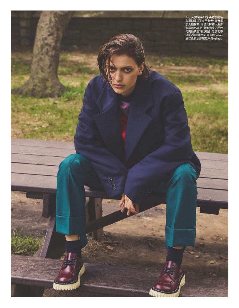 Valerie Scherzinger Wears Cool Girl Looks for Vogue China