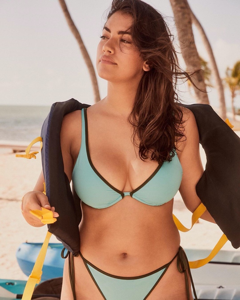Lorena Duran appears in Victoria's Secret Swim high summer 2020 campaign.