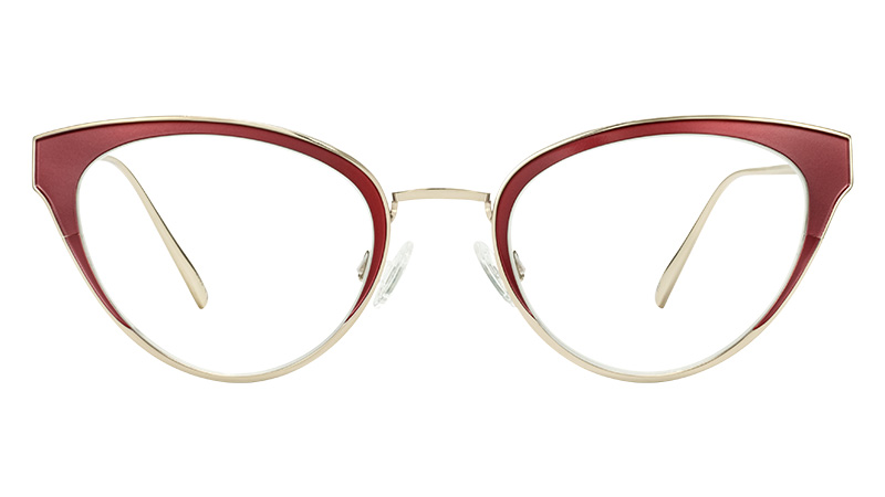 Warby Parker Loretta Glasses in Carmine with Polished Gold $145