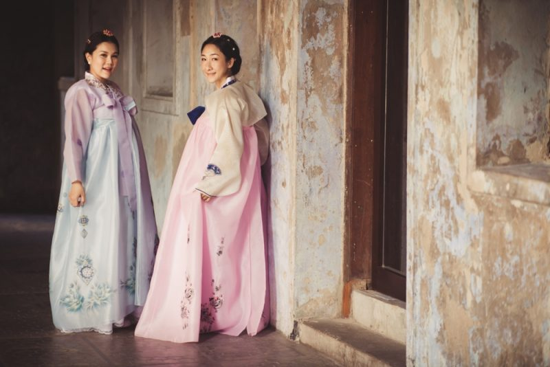Women Wearing Korean Hanboks