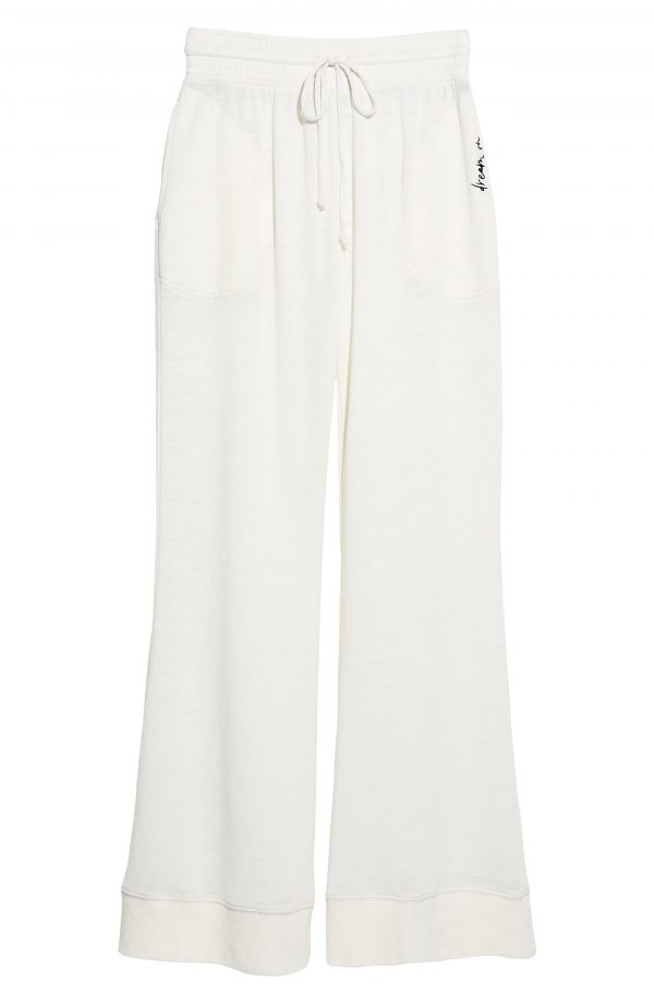 Women's Free People Cozy Cool Lounge Pants, Size X-Small - Ivory