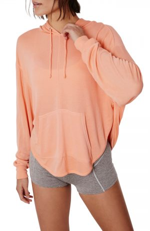Women's Free People Fp Movement Back Into It Cutout Hoodie, Size X-Small - Orange