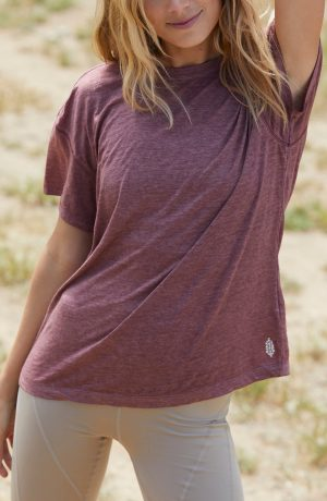 Women's Free People Fp Movement Keep Rolling T-Shirt, Size X-Small - Purple