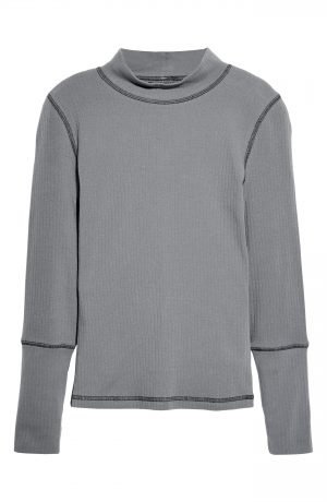 Women's Free People The Rickie Mock Neck Sweater, Size X-Small - Grey