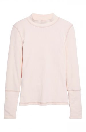 Women's Free People The Rickie Mock Neck Sweater, Size X-Small - Pink