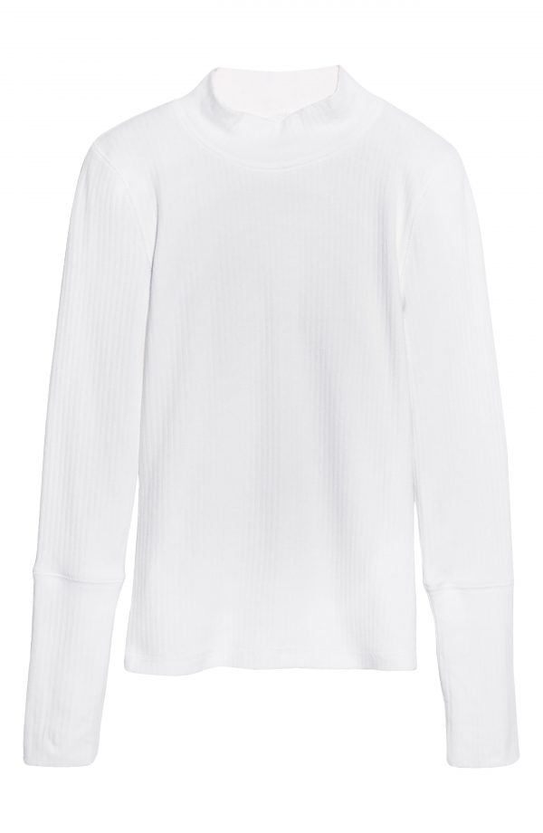 Women's Free People The Rickie Mock Neck Sweater, Size X-Small - White