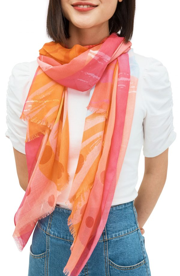 Women's Kate Spade New York Abstract Cocktail Scarf, Size One Size - Pink