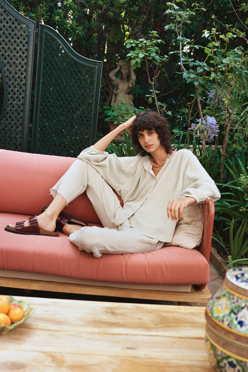 Mica Arganaraz Poses in Zara's Late Summer Styles