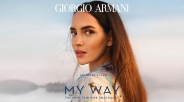 Adria Arjona stars in Giorgio Armani My Way fragrance campaign.