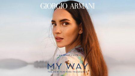 Adria Arjona stars in Giorgio Armani My Way fragrance campaign.