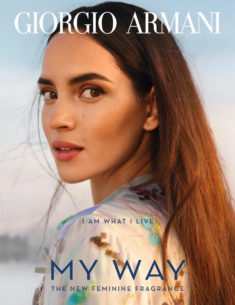 Adria Arjona Has Wanderlust in Giorgio Armani 'My Way' Fragrance Ads