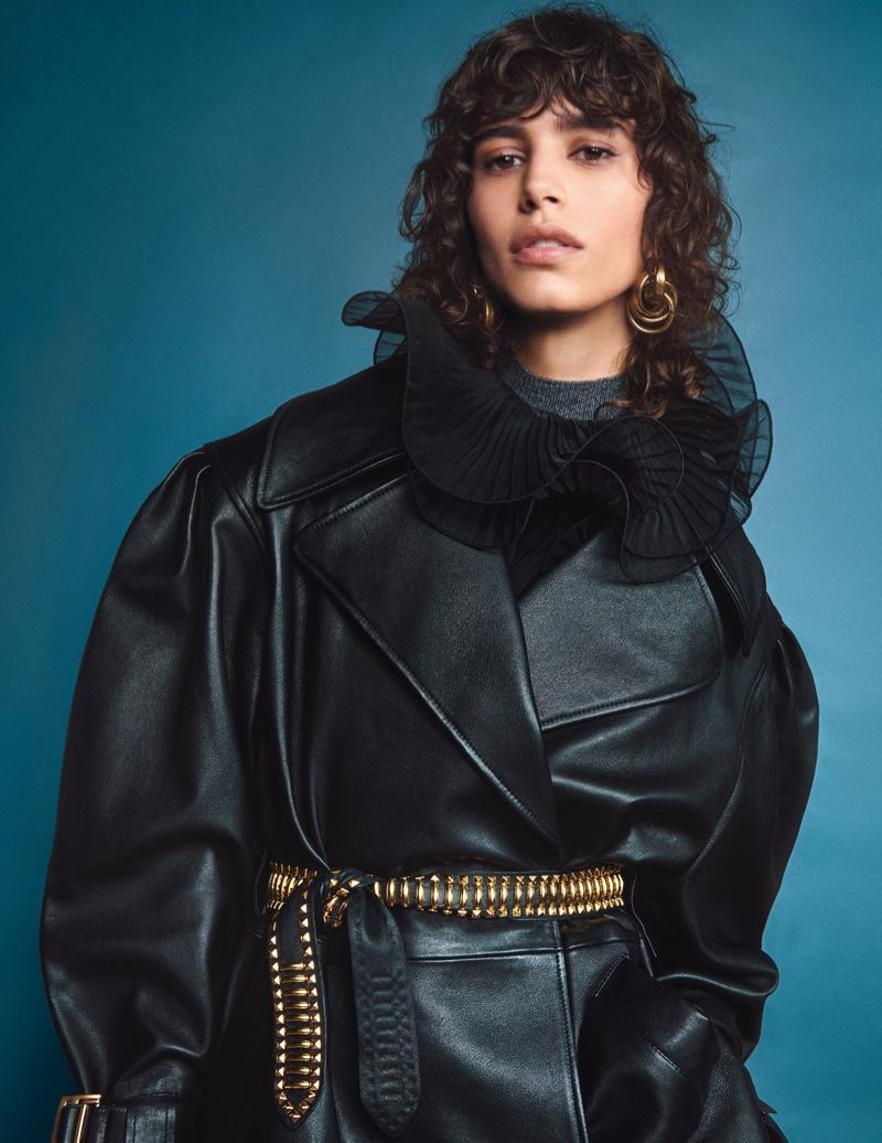 Mica Arganaraz stars in Alberti Ferretti fall-winter 2020 campaign.