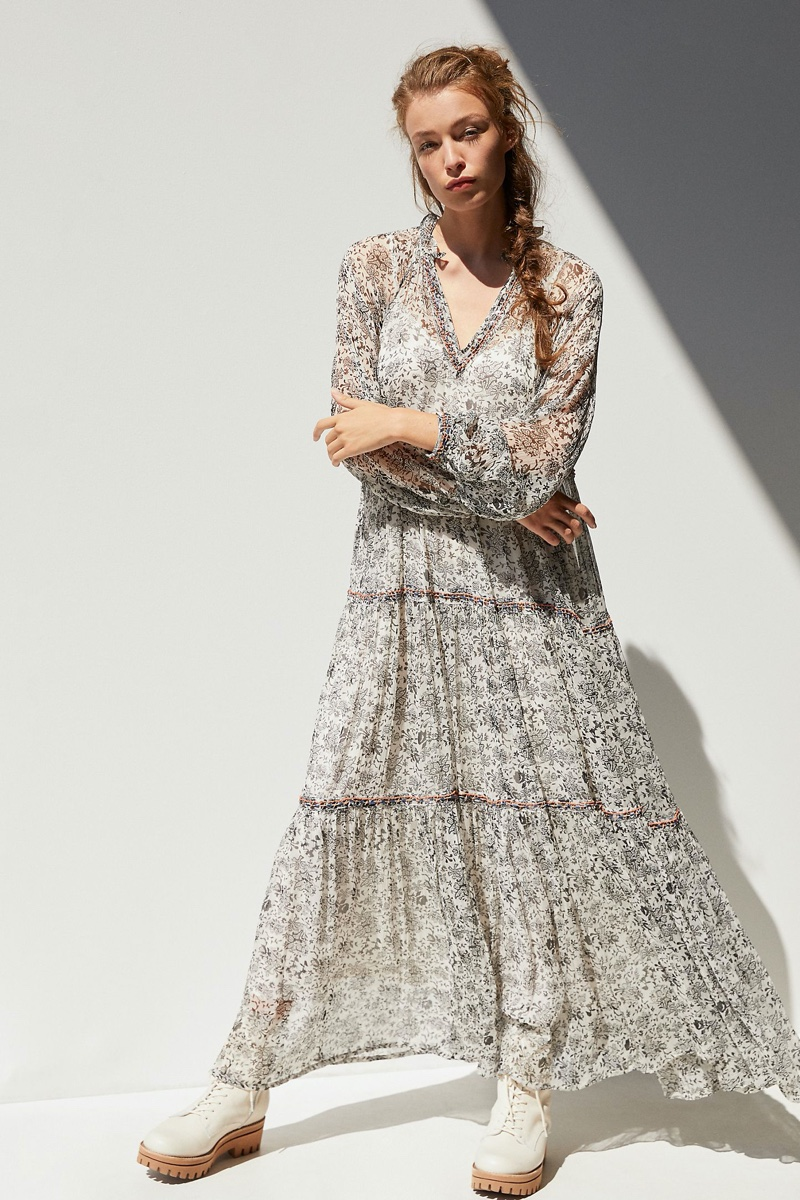 Anthropologie Romilly Tiered Maxi Dress $228