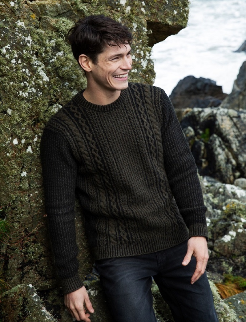 Aran Crew Neck Sweater