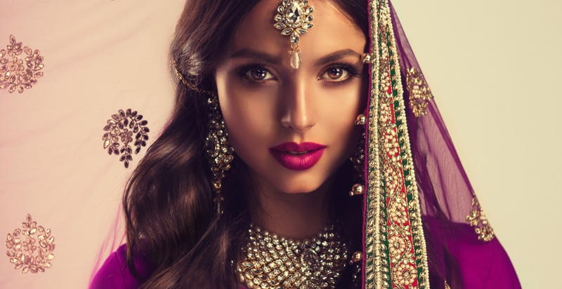 Beauty Indian Bridal Look Jewelry Embellished Style