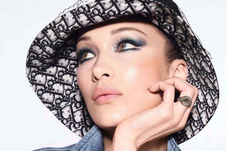 Bella Hadid stars in Dior Diorshow fall 2020 makeup campaign.