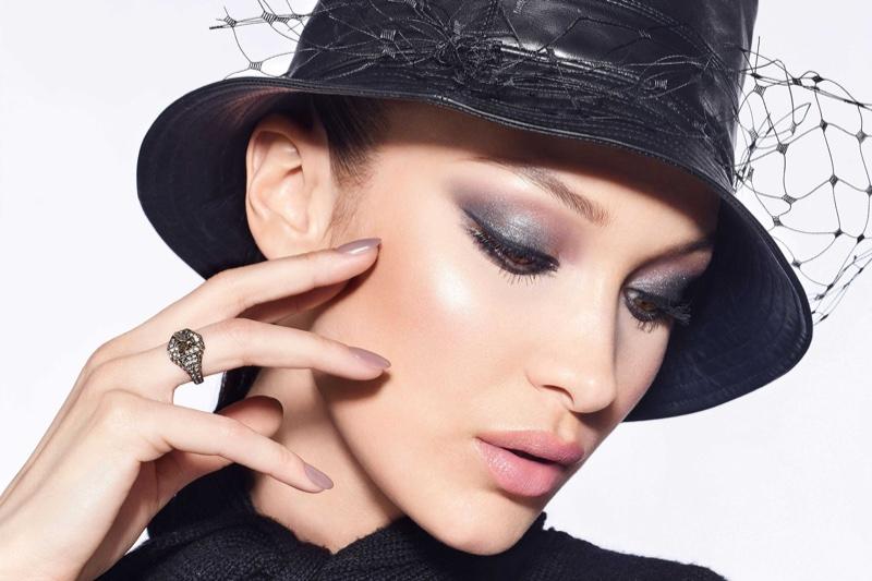 Model Bella Hadid fronts Dior Diorshow fall 2020 makeup campaign.