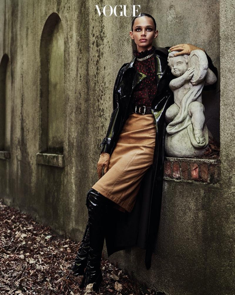 Binx Walton Smolders in Saint Laurent for Vogue Korea