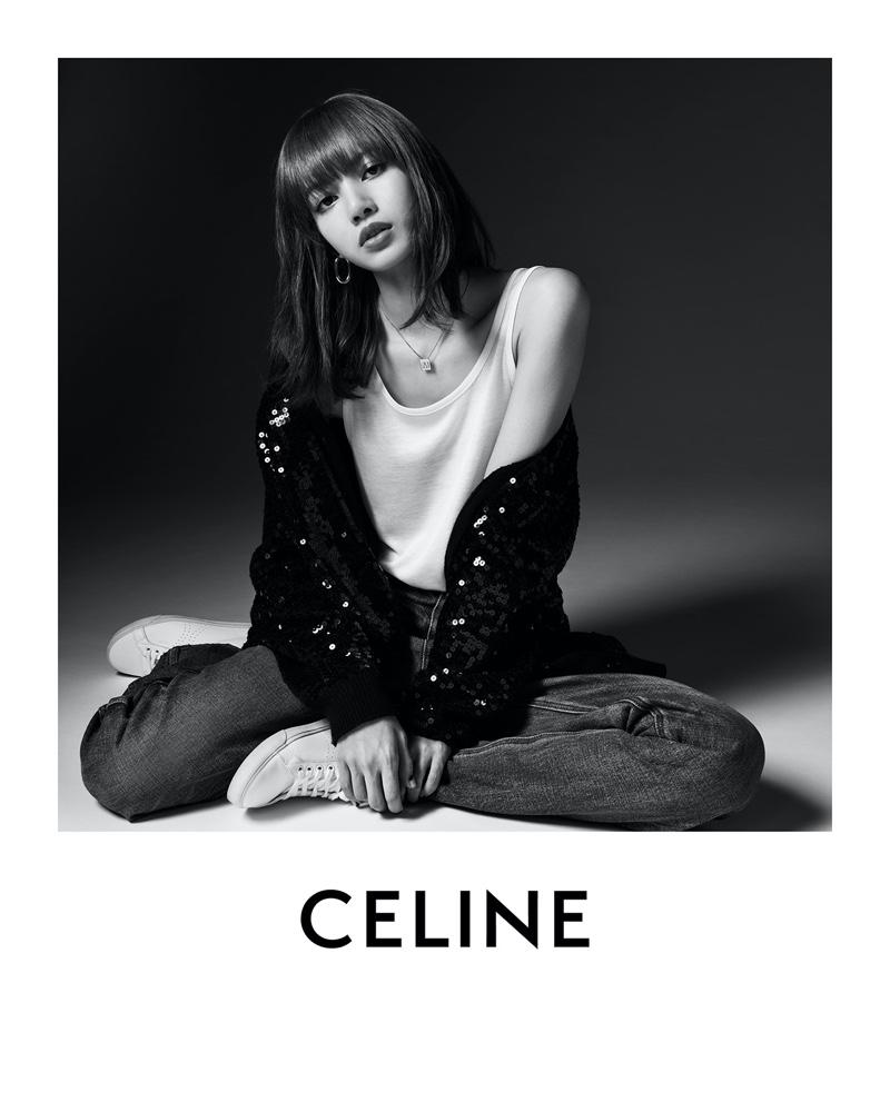 Lisa of Blackpink poses for Hedi Slimane in Celine campaign.