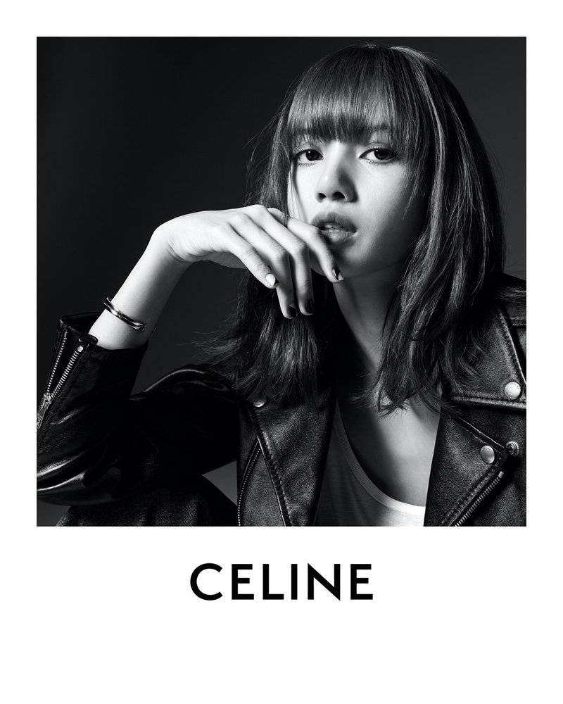 Ready for her closeup, Lisa poses for Celine campaign.