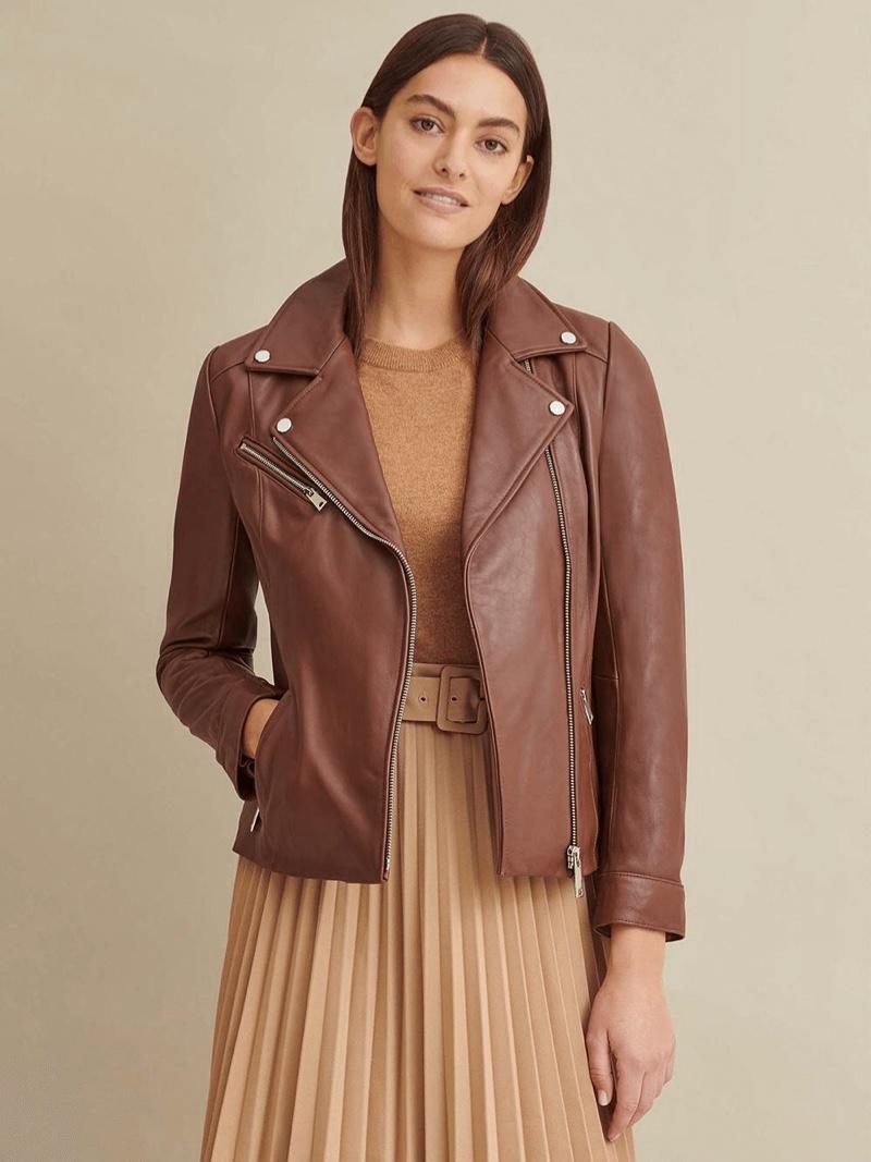 Brown Nutmeg Leather Jacket