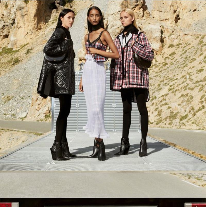 Mariacarla Boscono, Mona Tougaard, and Tara Halliwell star in Burberry fall-winter 2020 campaign.