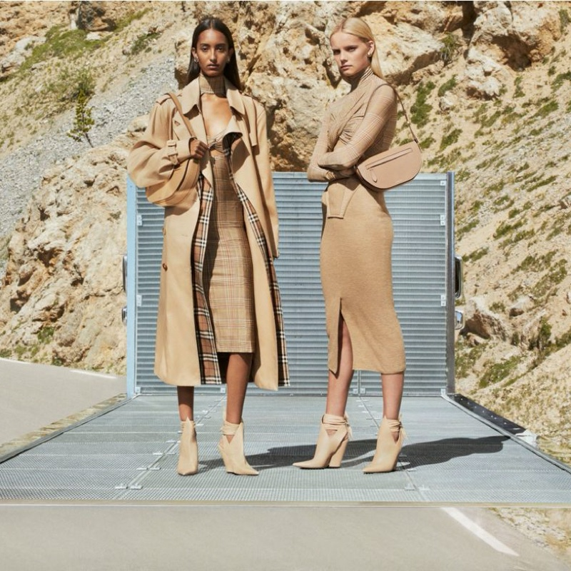 Mona Tougaard and Tara Halliwell appear in Burberry fall-winter 2020 campaign.