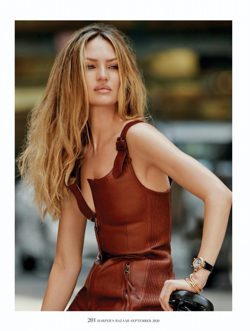 Candice Swanepoel Rocks Street Style for Harper's Bazaar Singapore
