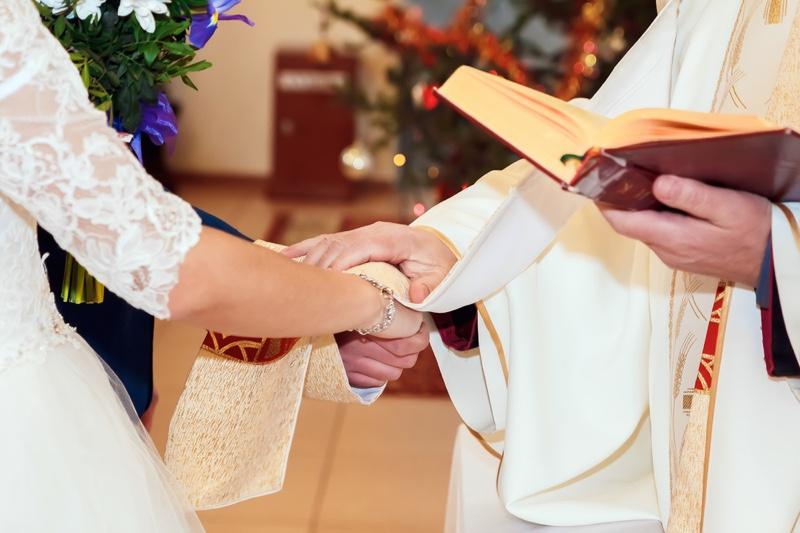 Catholic Wedding Priest Hands