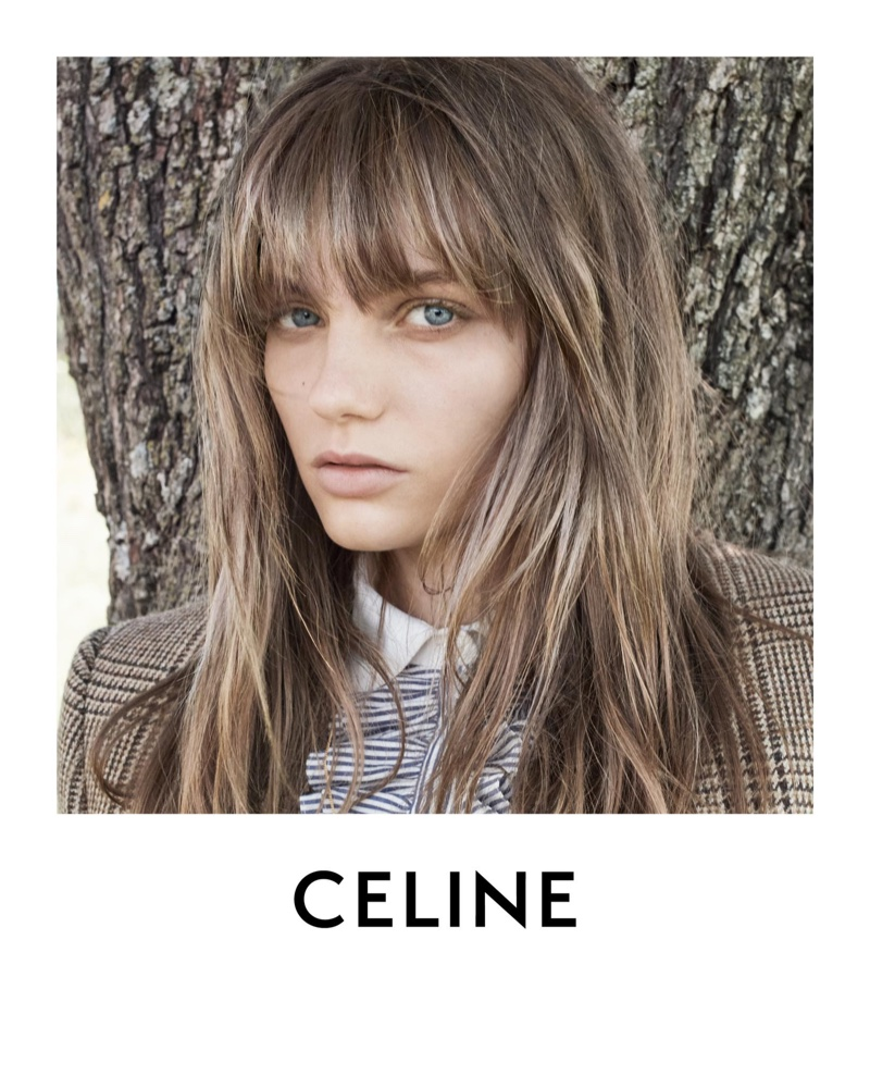 Fran Summers stars in Celine winter 2020 campaign.