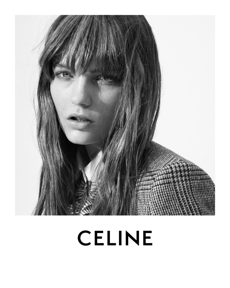 Model Fran Summers fronts Celine fall 2020 campaign.
