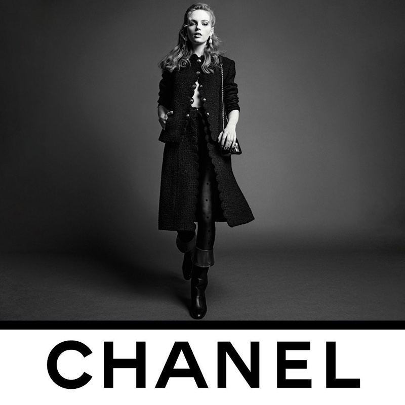 Fran Summers fronts Chanel fall-winter 2020 campaign.