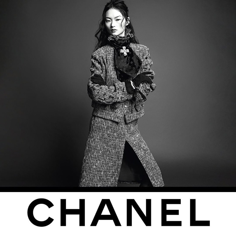 He Cong stars in Chanel fall-winter 2020 campaign.