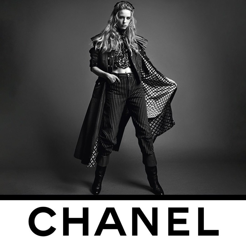 Abby Champion appears in Chanel fall-winter 2020 campaign.